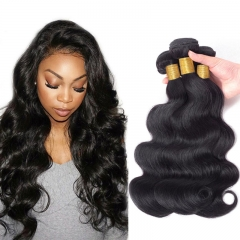 3PCS 13A Brazilian Body Wave 100% Virgin Hair Extensions Double Weft Natural 1B Color Free Shipping