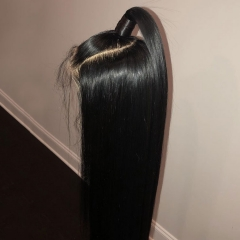 Elfin Preplucked 13*6 Straight Lace Frontal Wig 180% 150% Density Natural Black Virgin Hair 10-24inch Customize in 7 days