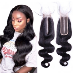12A 8-20 Inch #1b 2*6 Lace Closure Brazilian Virgin Body Hair