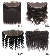 【13A】Wholesale Big Closure 13*4 Ear to Ear Lace frontal 10PCS