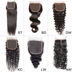 【13A】Wholesale 4*4 Lace Closure 10PCS
