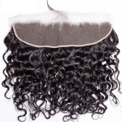 14A 13x4'' Italy curly Lace Frontal Closure More wavy 130% Density Big Lace Closure 1Pcs Free Shipping