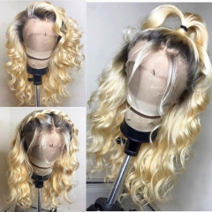 #1b-613 180% density Ombre Loose wave Wig Lace Frontal Wig Human Virgin Hair Customize Wig 9 working Days!