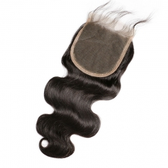 【Customize in 7 days】12A 8-20 Inch #1b 5x5 Lace Closure Brazilian Virgin Body Wave Hair(Free Part, Middle Part & Three Part )