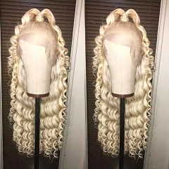 13A #613 Lace Frontal Loose curly Wig 180% density Customize Wig 7 working days