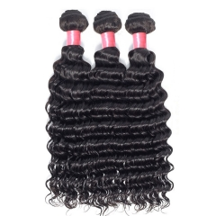 3PCS Hair Bundles New 12A Peruvian Deep Wave 8-30inch Hair 100% Human Virgin Hair Extensions Natural 1B Color Free Shipping