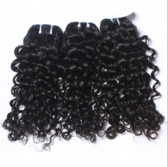 3PCS Hair Bundles New 12A Peruvian Italy Curly 8-30inch Hair 100% Human Virgin Hair Extensions Natural 1B Color Free Shipping