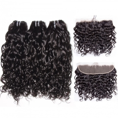 12A 【3PCS+ Frontal】Malaysian Italy Curl Hair Unprocessed Virgin Hair With 1PC Lace Closure Free Shipping