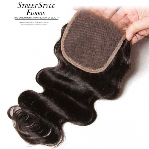 12A HD Invisible Transparent Lace Closure 4x4 Body wave Transparent Lace Closure HD Closure/Brown Lace Thin Lace Closure