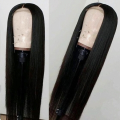 In Stock! 250% density 30inch HD Invisible Transparent Wig 4x4 Closure Wig Straight Thin Lace wig Thickness & Full Wig