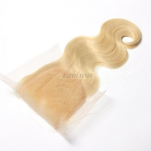 613 12A【 1PC Closure】 8-20 Inch Blonde 4*4 Lace closure Body Wave (Free Part, Middle Part & Three Part)