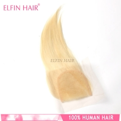 613 12A【 1PC Closure】 Straight 8-20 Inch Blonde 4*4 Lace closure  (Free Part, Middle Part & Three Part)