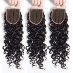 12A 【1PC Closure】 Italy curl #1b 4*4 Lace Closure 8-20 Inch Virgin Wave Hair(Free Part, Middle Part & Three Part )
