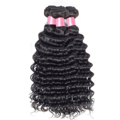【12A 1PC】Malaysian Virgin Hair Deep Wave Hair Bundles 8-30 Inch