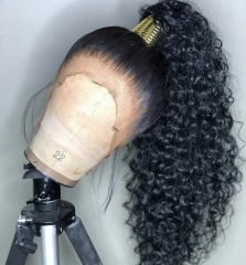 13A Elfin 360 Deep wave Wig Frontal 150% Density Virgin Human Hair Free Shipping Customize in 7 working days