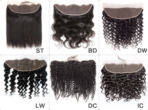 12A 【13x4 Frontal Closure 6 Styles 】HD Lace Frontal Closure 150% Density Ear to Ear 1Pc Human Hair Thin Lace Closure