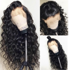 Elfin 13x6  Loose curly Pre-Plucked 150% Density Lace Frontal Wig Hand-made Swiss Lace Wig Natural Hairline Customize 7 working days!