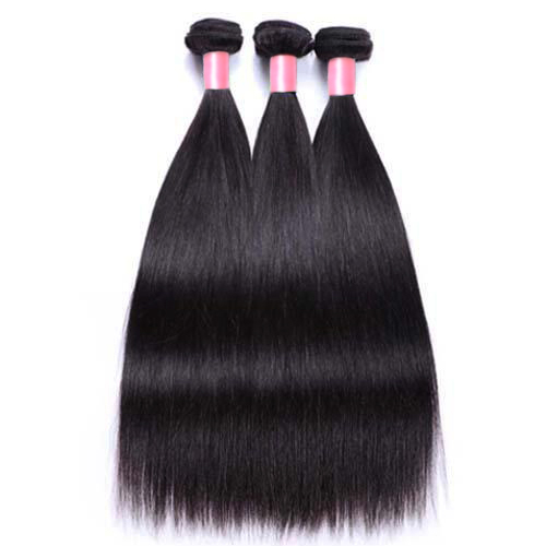 3PCS Hair Bundles New 12A Brazilian Straight 8-30inch Hair 100% Human Virgin Hair Extensions Natural 1B Color Free Shipping