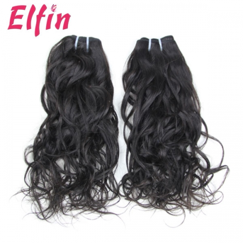 【13A 1PC】Free Shipping India Raw Hair Natural/Water Wave 8-34 Inch Virgin Human Hair