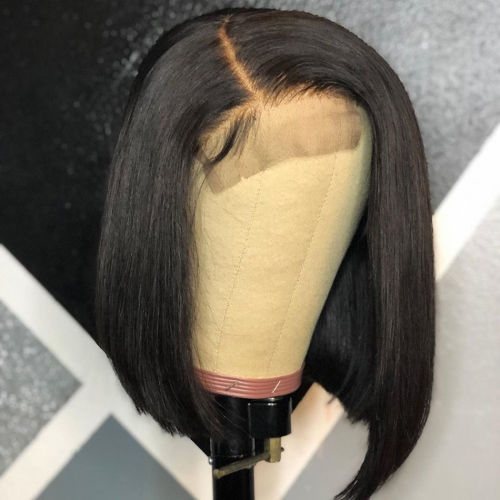HD Lace Bob 4*4/5*5/13*4 Closure Wig 250% density Invisible Lace Wig Straight Hair Customize 3 days