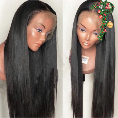 Elfin Preplucked 13A 150% Density Lace Frontal Straight Wig 13x4  Human Virgin Hair Customize in 7 working days