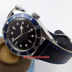 41mm corgeut black dial Sapphire Glass 21 jewels miyota Automatic mens Watch C14