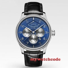 42mm Parnis Blue Dial Automatic Power Reserve automatic Business Men's Watch 505