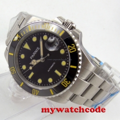 40mm Parnis Sapphire glass Ceramic bezel MIYOTA automatic movement mens watch267