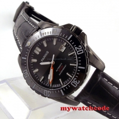 44mm Parnis black dial Ceramic bezel 200m atm automatic mens diving watch P630