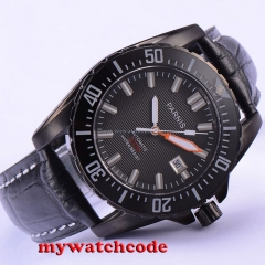 44mm Parnis black dial Ceramic bezel 20atm automatic diving mens watch P681