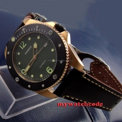 43mm Parnis green dial Sapphire Glass ceramic bezel Automatic mens Watch P594