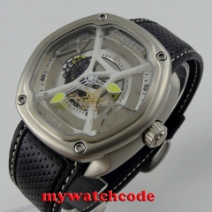 big sale of 45mm corgeut white dial three-dimensional dial miyota Automatic mens Watch