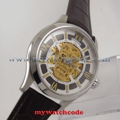 45mm Parnis skeleton Sapphire glass miyota Automatic movement Mens Watch P525B