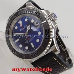 41mm Parnis blue dial Sapphire glass Ceramic bezel miyota automatic mens watch Price: