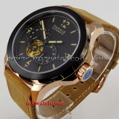 44mm Parnis black dial luminous marks Sapphire glass miyota Automatic Mens Watch