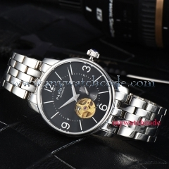 38mm Parnis black dial Hollow Dial Sapphire Crystal Miyota Automatic Mens Watch
