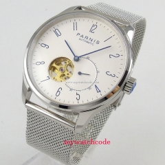 Parnis watch 42mm men's watch sapphire glass white dial 5ATM Golden MIYOTA Automatic movement wrist watch men 1018