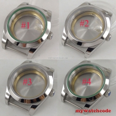 40mm Polished steel sapphire glass automatic Watch Case fit ETA 2824 2836 MIYOTA 8215 8205 Movement