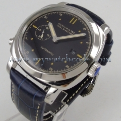 44mm MM black dial luminous hands date ST2551 movement Automatic men's watch