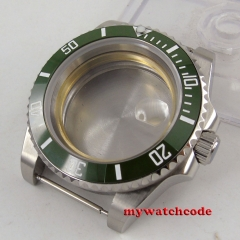 43mm Green ceramic bezel Sapphire Crystal date window fit parnis MIYOTA 8215 821A 8205 2836 Movement Watch Case