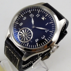 47mm hand wingding men's watch special second hand Turbo type 6498 hand winding movement
