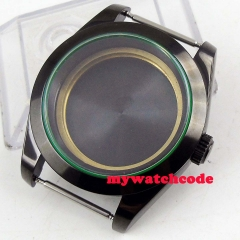 40mm PVD case Sapphire Glass Watch Case fit ETA 2836 DG 2813 MingZhu 3804 MIYOTA Movement