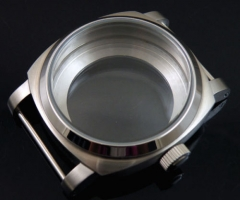 44mm 316L stainless steel watch case bow glass for eta 6497 6498 movement 95