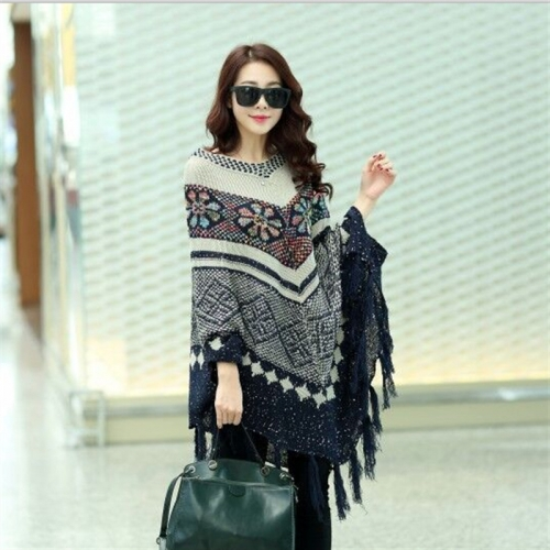 Women Tassels large size hedging sweater shawl