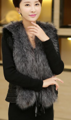 Fur and fur of the new fall and winter fur simulation vest jacket