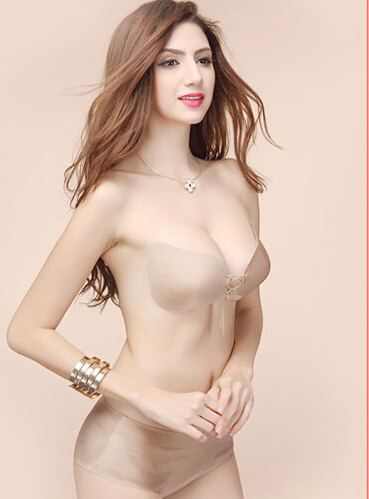 Invisible bra with no straps gathered silicone invisible bra