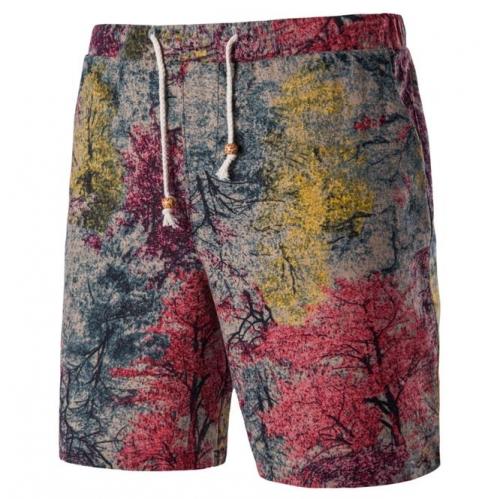 Casual Cartoon Floral Floral Beach Pants