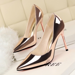 Simple fine with high-heeled sexy women's shoes