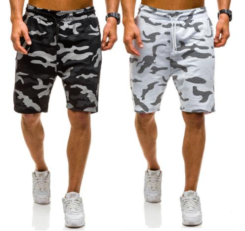 Charming Men's casual loose camouflage lace shorts