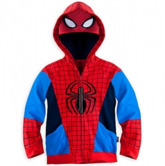 Fashion boy hooded iron man jacket multicolor